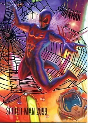 Spiderman Fleer Ultra 2017 Silver Parallel Base Card #84 Spider-Man 2099