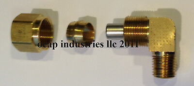 Air Brake Fitting DOT Approved 3/8 Nylon Tube X 1/2 NPT Male (1 Pc) Brass Comp.