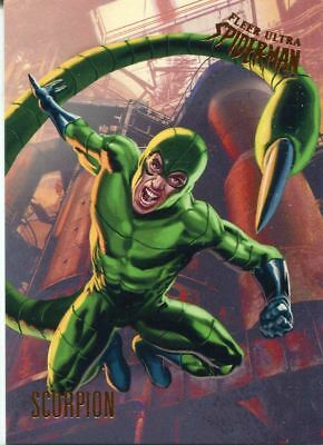 Spiderman Fleer Ultra 2017 Base Card #9 Scorpion