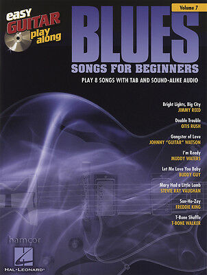 Blues Songs for Beginners Easy Guitar Play-Along TAB Music Book/CD