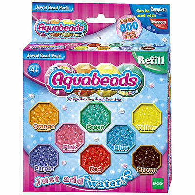 AQUABEADS Jewel Bead Refill Pack 79178 Over 800 Aqua Beads