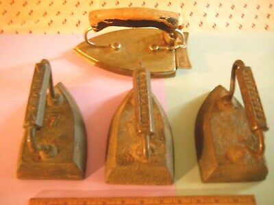 (4) Antique Clothes Irons