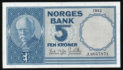 5 Kroner From Norway 1962 M Unc