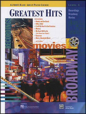 Alfred's Basic Adult Piano Couse Greatest Hits Level 1 Sheet Music Book Titanic