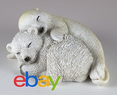 "Baby Polar Bear and Seal Figurine Resin 3"" Long New In Box!"