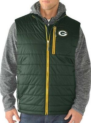 88a8322fe J NFL GREEN Bay Double Track Trail 3-in-1 Systems Jacket and Vest ...