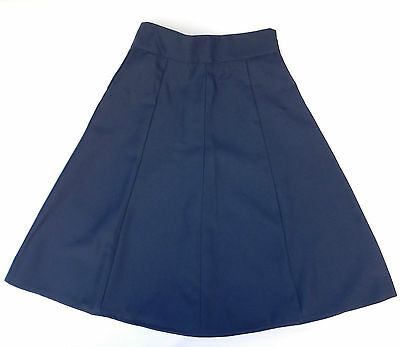 Girls crimplene skirt School uniform Navy Blue UNUSED vintage 1970s Banner 28 A