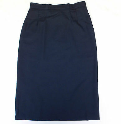 "Vintage 1970s school uniform skirt Banner Navy Blue UNUSED Waist 26"" 24"" girls D"