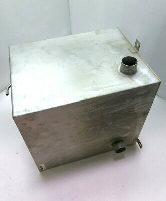 "Coolant Overflow Container, Stainless, 1 1/4"" In & Out, 10 3/4""x9 1/8""x11 3/4"""