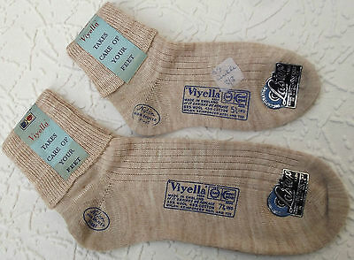 Boys and girls socks Vintage 1950s VIYELLA children and toddler BEIGE rib UNUSED