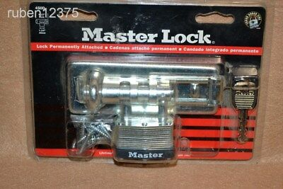 NEW Master Lock Hasp Lock w/Keys no. 450D, For Sheds, Gates, Dog Kennel Doors
