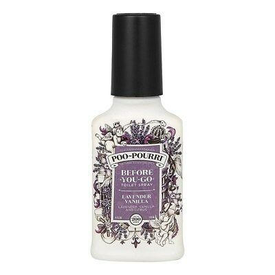 Poo Pourri Lavender Vanilla 4oz 118ml Bottle - Before you Go Toilet Odour Spray