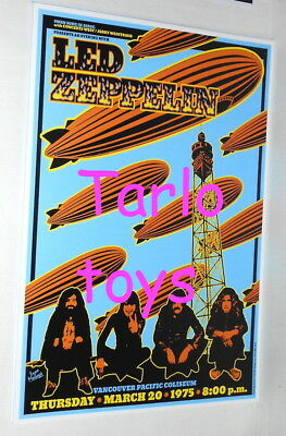 LED ZEPPELIN - Vancouver, Canada - 20 march 1975 - concert poster