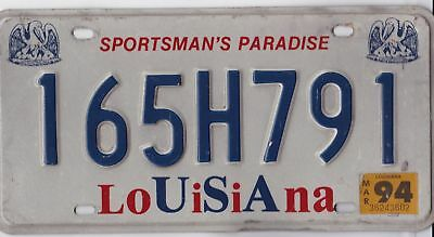 🌟⚜🌟 Authentic Usa 1994 Louisiana Pelican License Plate. Sportsman's Paradise
