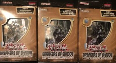 Yugioh Breakers Of Shadow Special Edition Se 3 Mini Boxes Factory Sealed