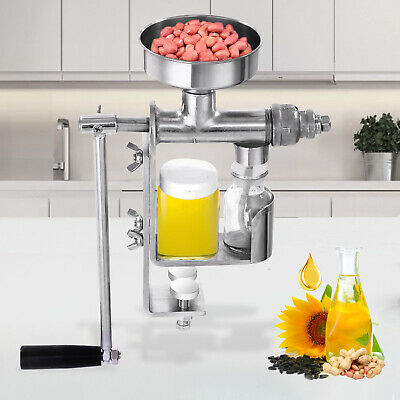 Manual Oil Press Machine Oil Expeller Extractor Peanut Nuts 304# Stainless Steel
