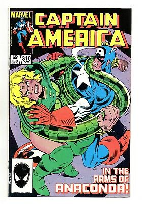 Captain America Vol 1 No 310 Oct 1985 (VFN+) 1st appearance of Serpent Society