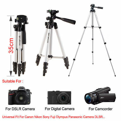 For Canon Nikon Camera Camcorder Universal Portable Aluminum Tripod Stand & Bag