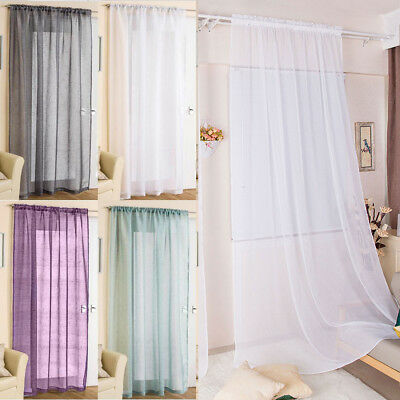 "Elegance 1 Pack Sheer Window Curtain Panel Drape 72"" 84"" Long Rod Pocket Solid"