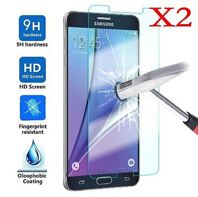 2X Tempered Glass 9H Film Screen Protector Cover F Samsung Galaxy J1 2 3 5 7 /LE