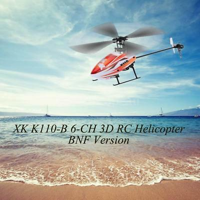 For Gift Original XK Blast K110-B 6CH 3D 6G System BNF RC Helicopter UFO Q9J2