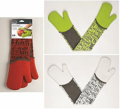 Zeal by CKS Hot Print Silicone Waterproof Double Oven Gloves Mitt Gauntlet