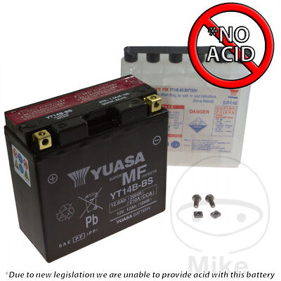 Yuasa YT14B-BS Maintenance free Battery (No Acid Included)