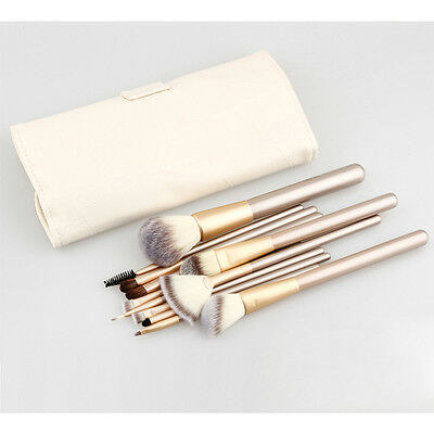 12tlg Pinsel Set Professionelle Make-up Brush Kit kosmetik bürste Tasche Tasche