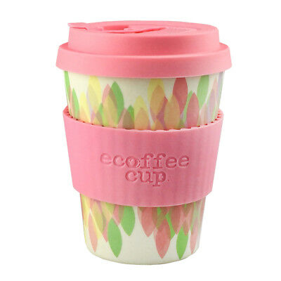 Ecoffee Cup Sakura Pink with Light Pink Silicone 12oz Ecofriendly Reusable Drink