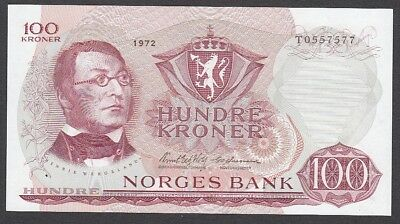 100 Kroner From Norway 1972 A6 Unc