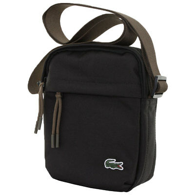 Lacoste 2016 Mens Vertical Camera Shoulder Bag - Black