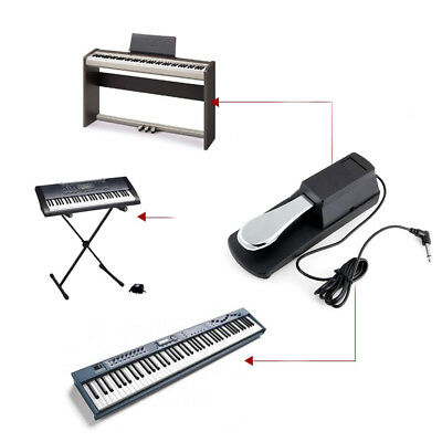 Universal Keyboard E-Piano Sustain Pedal Sustainpedal Fu?pedal Metall Haltbar