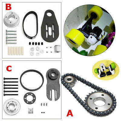 Electric Skateboard Parts Pulleys And Motor Mount Kit For 80mm 83/90/97mm Wheels