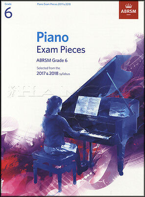 ABRSM Piano Exam Pieces 2017 2018 Syllabus Grade 6 Sheet Music Book Tests Songs