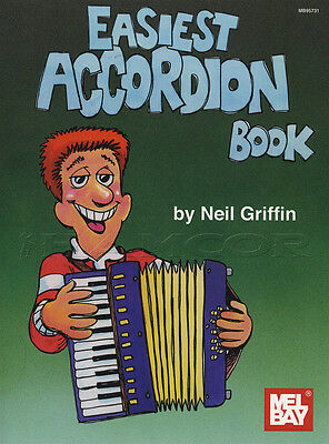 Easiest Accordion Book Piano Accordion Music Book Learn How To Play Method Tutor