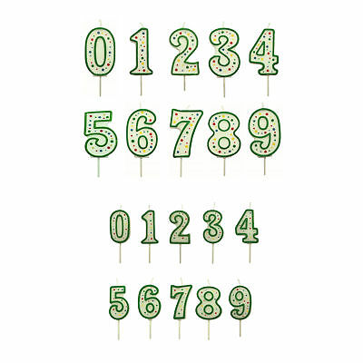 PME Green Number Birthday Candle Cake Numeral Pick Celebration Party Decoration
