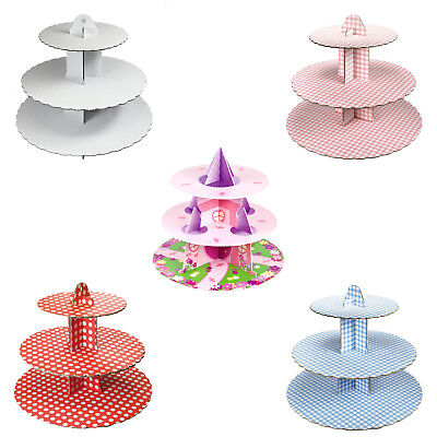 Culpitt 3 Tier Cupcake Cake Stand Display Birthday Party Cardboard Decoration