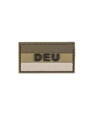 "BW Patch 3D ""DEU"" PVC m. Klett small, Camping, Outdoor, Military    -NEU-"