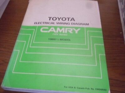 1988 1/2 toyota camry electrical wiring vzv mod shop service manual book  ds1581