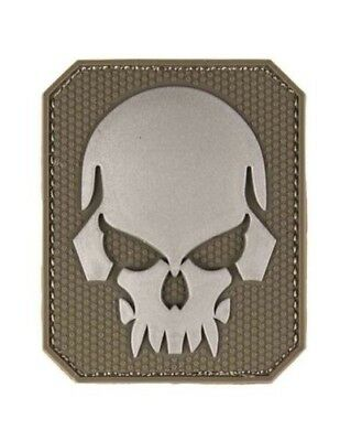 Patch 3D Skull PVC m. Klett large, Camping, Outdoor, Military -NEU
