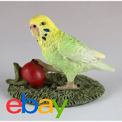 "Mini Budgie Parakeet With Cherry Figurine 1.5"" High New In Box!"