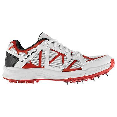 Slazenger Advance Cricket Shoes Juniors White/Red Trainers Sneakers Shoe