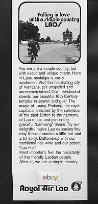 Royal Air Lao 1974 Falling In Love In A Simple Country Vientiane Unspoiled Ad
