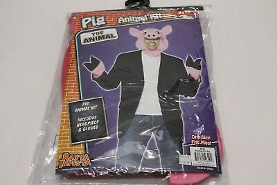 You Animal - Pig Kit Includes Headpiece & Gloves - One Size Halloween Costume!