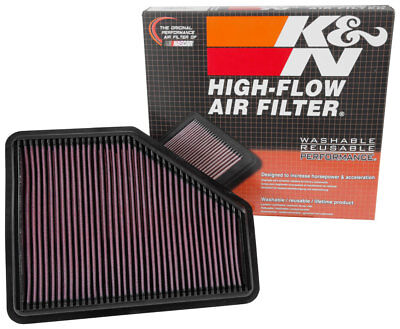 K&N Air Filter Element 33-3051 (Performance Replacement Panel Air Filter)
