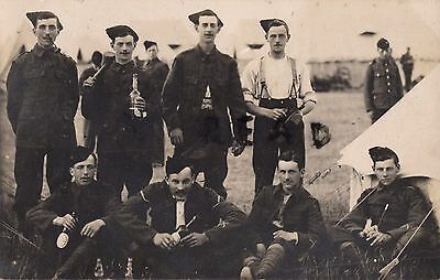 Soldier group Volunteer Battalion Queens Royal West Surrey Regiment at Camp