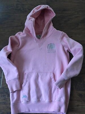 Girls Little Joules Baby Pink Hoody (Royal Ballet) age 11 to 12