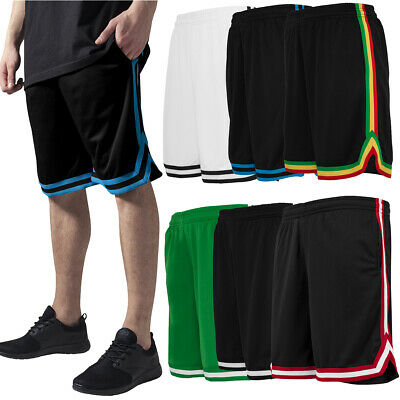 Urban Classics Basketball Stripes Mesh Shorts Trikot Hose Oldschool Nba Retro