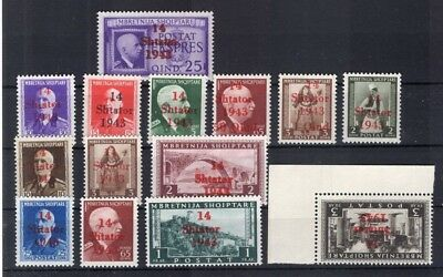 Albanien 1/14 SATZ**POSTFRISCH 480EUR (A0802
