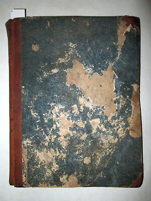 EARLY HANDWRITTEN LEDGER OF NORWICH CT IRON WORKER Manuscript Account Book 1832